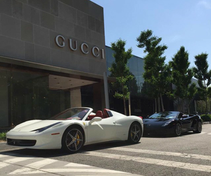 car, gucci, and luxury image