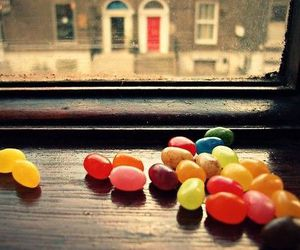 candy, colorful, and window image