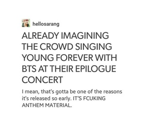 army, kpop, and young forever image