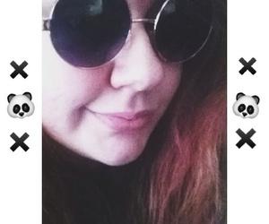 grunge, x, and round sunglasses image