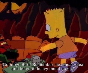 bart, the simpsons, and heavy metal image