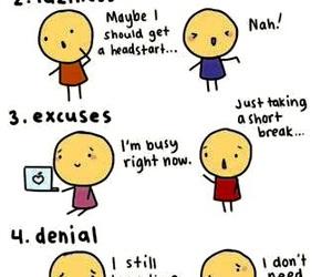 procrastination, funny, and school image