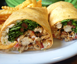 food and chicken wrap image