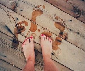 summer, feet, and beach image