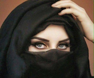 eyes, girl, and hijab image