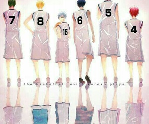 anime, kuroko no basket, and generation of miracles image