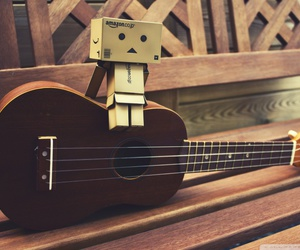 guitar, music, and danbo image