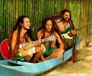 beach, boys, and guitar image