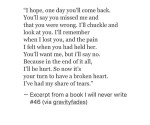breakup, come back, and depressed image