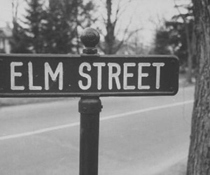 elm street, black and white, and horror image