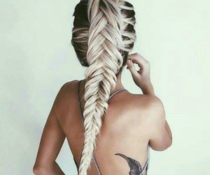 black, braid, and hair image