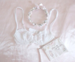 pink, girly, and lingerie image