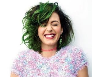 choker, green hair, and joyful image