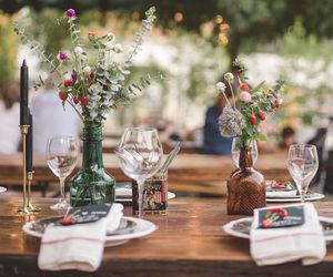 dinner, party, and outdoor image