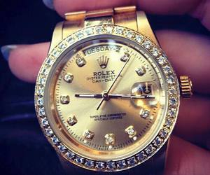 rolex, watch, and gold image