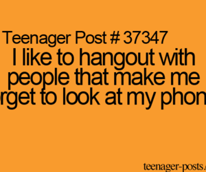 teenager post, phone, and true image