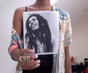 bob marley, fashion, and girl image