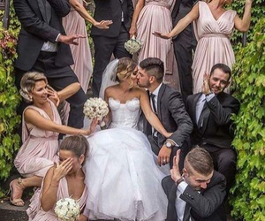 love, wedding, and bridesmaid image