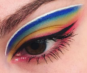 makeup, rainbow, and aesthetic image