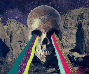 skull, diamond, and art image