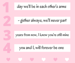Relationship, monthsary, and four months image