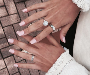 nails, style, and ring image