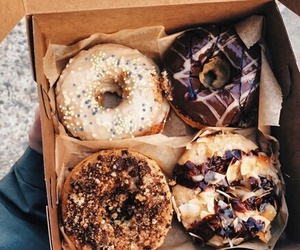 food, donuts, and me image
