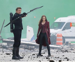 elizabeth olsen, hawkeye, and scarlet witch image
