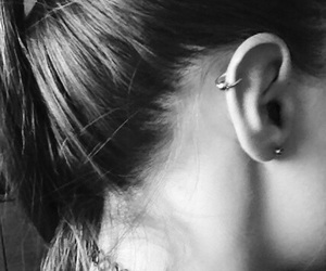 girl, helix, and pierced image