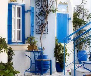 blue, paros, and Greece image