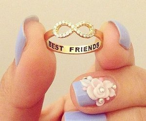 best friends, ring, and girl image