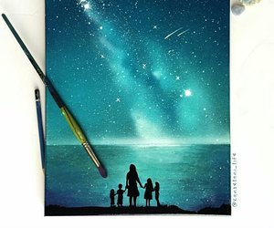 art, draw, and stars image