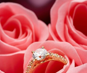 flowers, married, and rings image