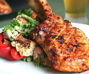 food, yummy, and meat image