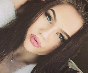 girl, eyes, and lips image