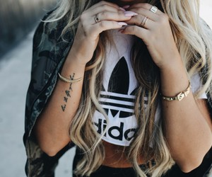 fashion, adidas, and blonde image