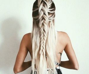 blond, braids, and cheveux image
