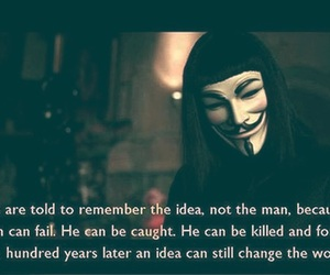 quotes, ideas, and v for vendetta image