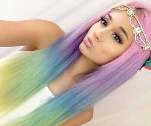 color hair and ariana grande image