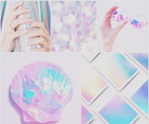 blue, holographic, and pink image