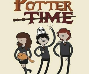 harry potter, adventure time, and potter image