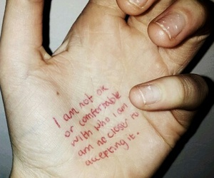 quotes, grunge, and hand image