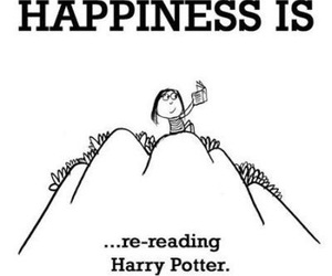 happiness, harry potter, and reading image