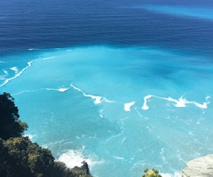 beach, blue, and corse image