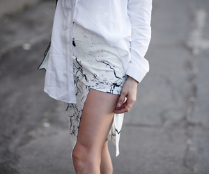black and white, fashion blogger, and marble image