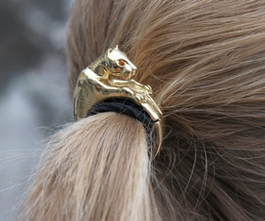 hair, gold, and blonde image