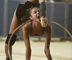 gymnastic, hoop, and rythmic gym image
