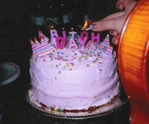 cake, birthday, and grunge image