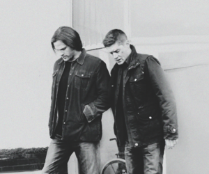 black and white, dean winchester, and jared padalecki image