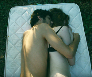 couple, pale, and grass image